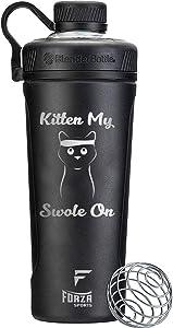 Forza Sports Blender Bottle x Radian 26 oz. Shaker - Kitten My Swole On - Black
