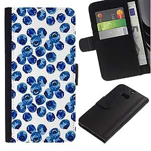 WINCASE ( No Para HTC ONE Mini 2) Cuadro Funda Voltear Cuero Ranura Tarjetas TPU Carcasas Protectora Cover Case Para HTC One M8 - naturaleza porcelana azul blanco