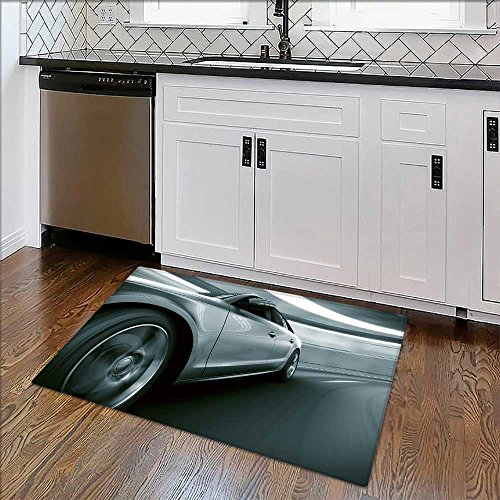 Home Décor Rug d rendering of a brandless generic car of my own design in a tunnel for Living Room, Bedroom, and Dining Room W39