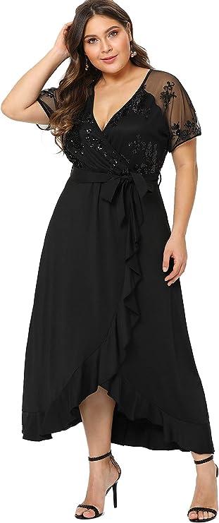 Plus Size Semi Sheer Dress