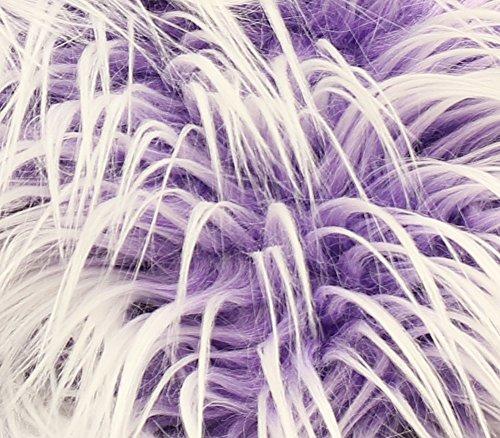 [Faux Fur Long Pile ULTRA MONGOLIAN 2 TONE PURPLE Fabric / 64