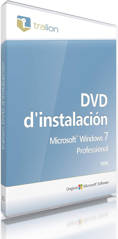 Microsoft® Windows 7 Professional 64bit espaniol, Tralion DVD, español, incluyendo documentos seguros de auditoría