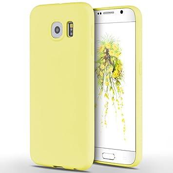 Funda Samsung Galaxy S6, Yokata Silicona TPU Pluma Ultra Delgado Ligero Elegante Suave Mate Carcasa Trasera Fantasía Caprichoso Kawaii Adorable Diseño ...
