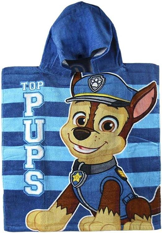 Poncho toalla Patrulla Canina Paw Patrol Top Pups algodon: Amazon ...