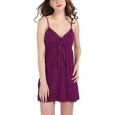 2f3d94823bed Summer Nightgowns Women Sexy Deep V Sleep Lounge Empire Waist Lace ...