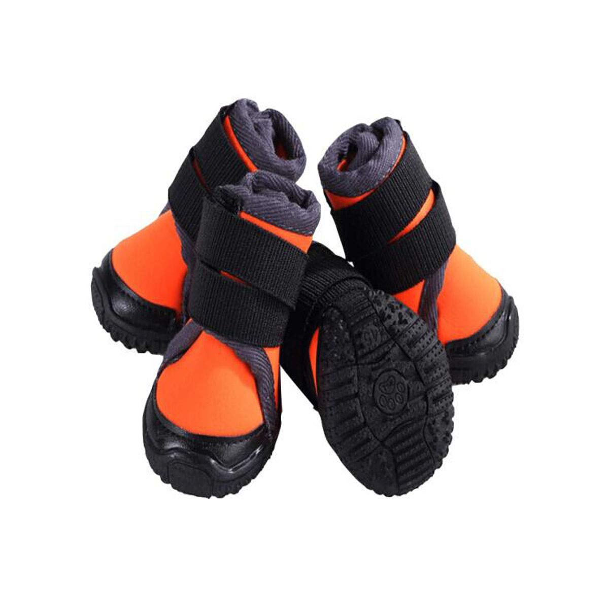 orange 50  orange 50  Jingfeng Waterproof Non-Slip Hiking Out Pet shoes, Medium and Large Dogs Plus Velvet Warm, Red 45 Yards Beautiful (color   orange, Size   50 )