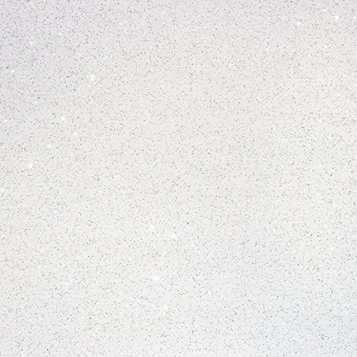 Three (3) 10x12 Sheets of Glitter Iron-on Heat Transfer Vinyl Sheets (White)