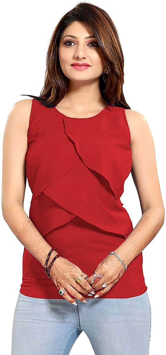 Indian Handicrfats Export The Dresserys Womens Faux Crepe Top