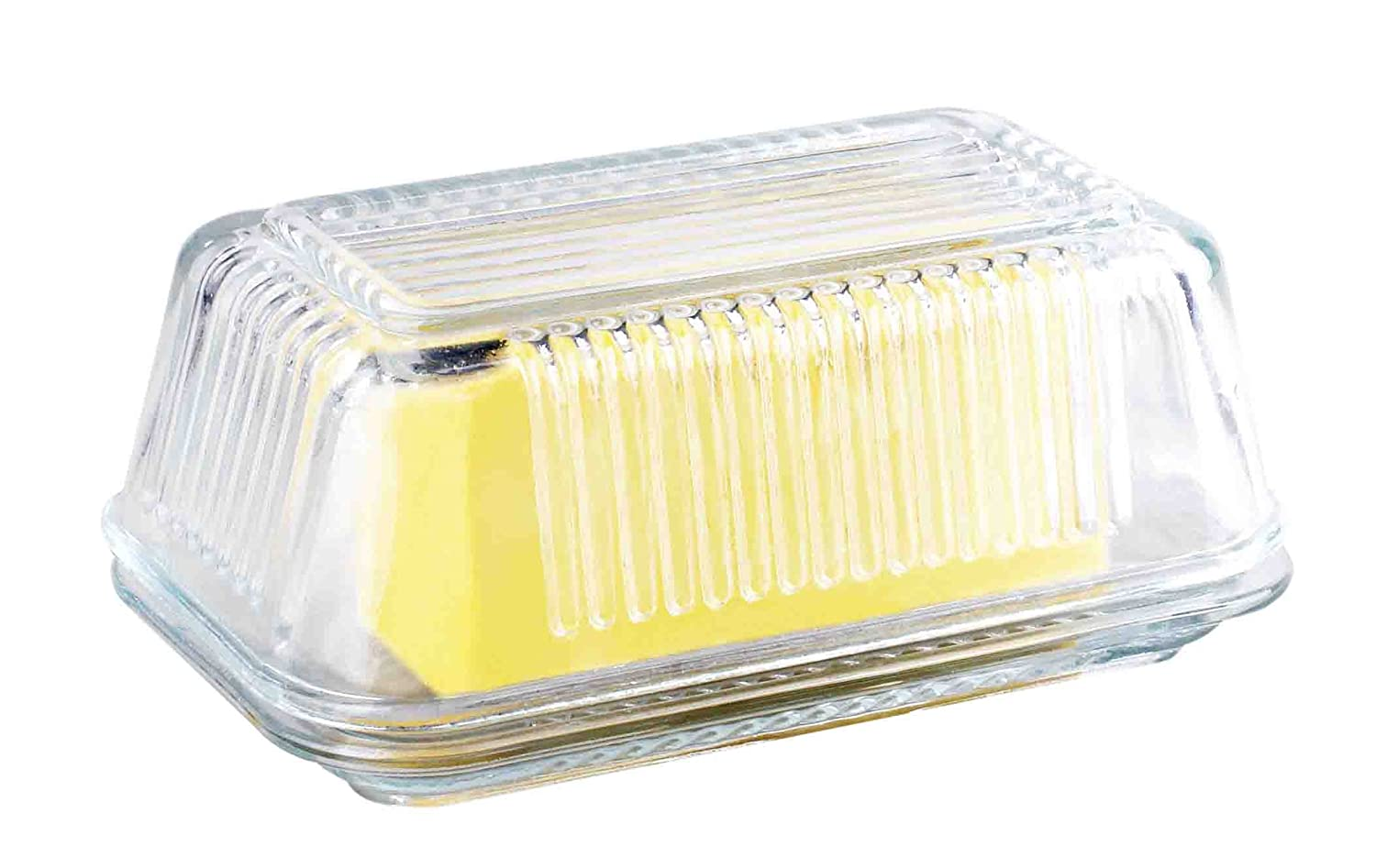 Home Basics Glass Butter Dish W/Lid HDS Trading Corp BD44362