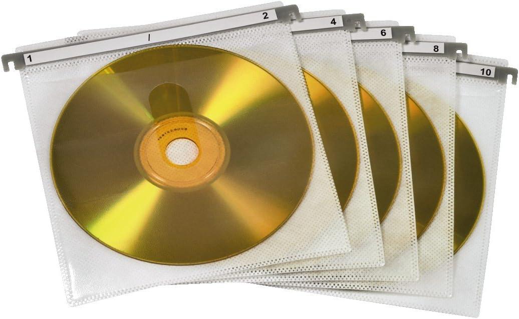 Hama - CD/DVD Double Protective Sleeves,Pack of 50 Pcs, White, Blanco: Amazon.es: Informática