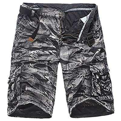 Cheap ouxiuli Men's Casual Army Camouflage Workout Cargo Shorts supplier