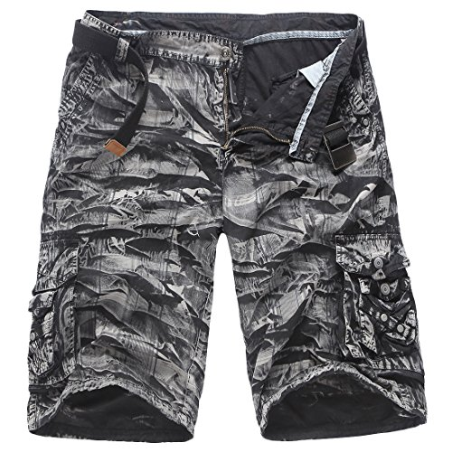 Wholesale Alion Men's Casual Camouflage Workout Cargo Shorts for cheap