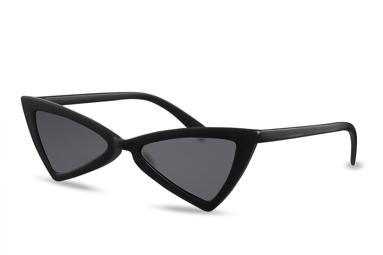 Cheapass Occhiali da Sole Cat Eye Moda Design Montatura Nera Occhiali Scuri UV400 Protetti Donne Donna YdS8BMo4u