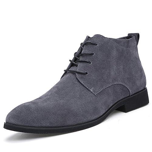 Botines De Hombre Transpirable Cuero Ligero CóModo Botines Zapatos De Moda Casual Al Aire Libre Superior Alto Invierno: Amazon.es: Zapatos y complementos
