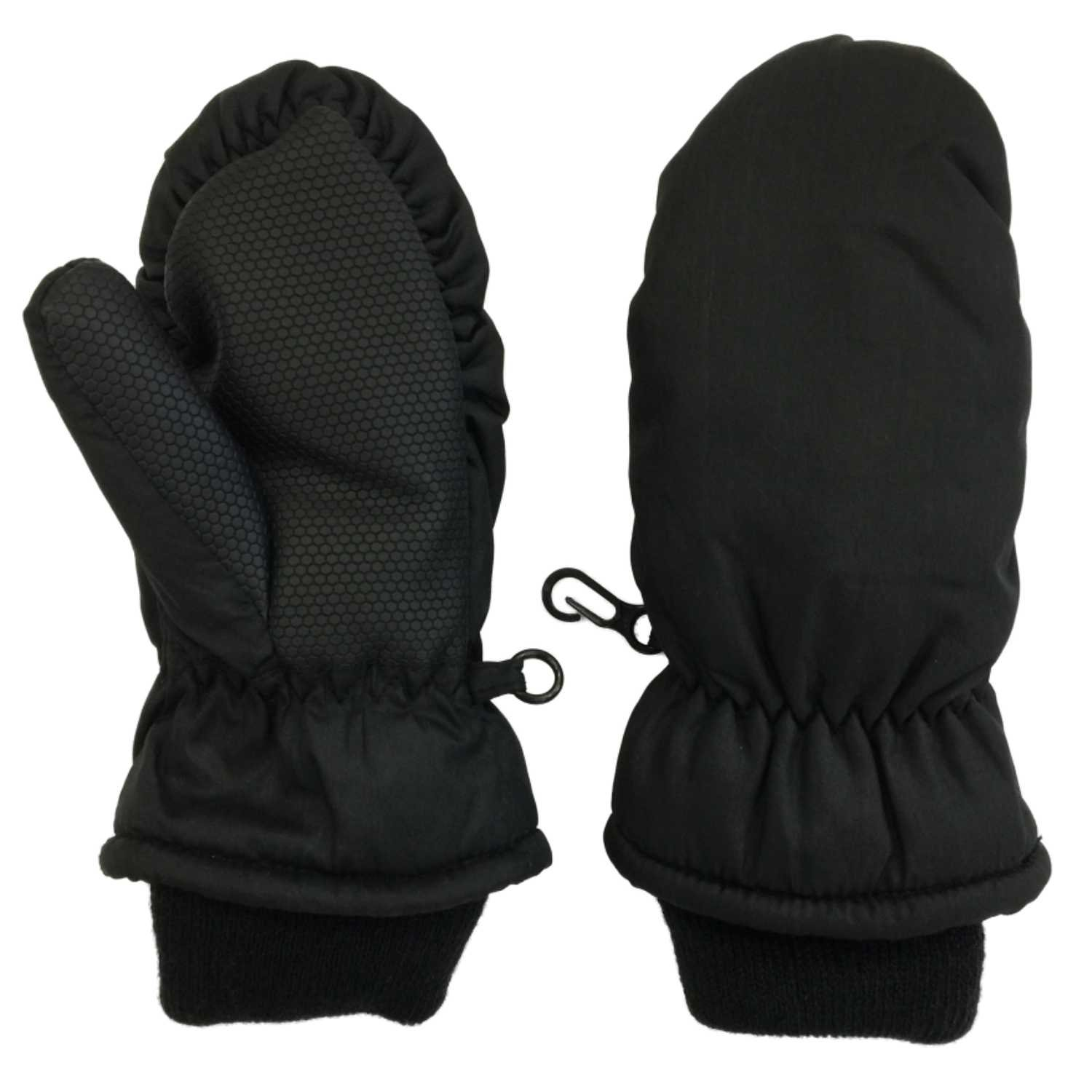 Toddler Girls & Boys Black Thinsulate Snow & Ski Mittens Aquarius