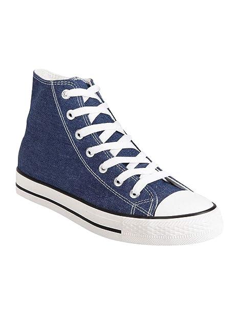 MISTER ANGELO - Zapatillas de Tela para Mujer Azul Size: 37 EU