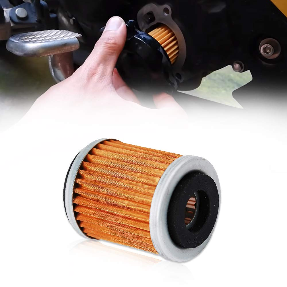 HIFROM Air Filter Element Cleaner with Oil Filter Spark Plug Kit for 2005-2013 Yamaha Raptor 350 YFM350R Replace 1UY-14451-00-00 1UY134400100