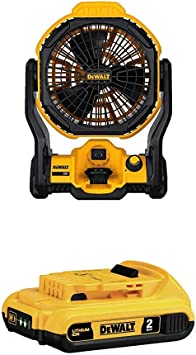 DEWALT DCE511B 20-Volt Max Jobsite Fan Battery Not Included corded cordless New!