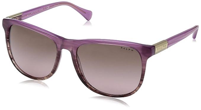 33dffa4ae8e Ralph by Ralph Lauren Women s 0ra5224 Square Sunglasses Horn  Gradient Berry