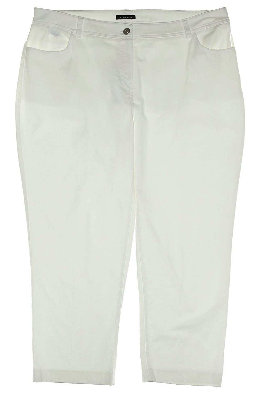 Jones New York Women's Plus Size Ankle Length Casual Pants 14w Oyster