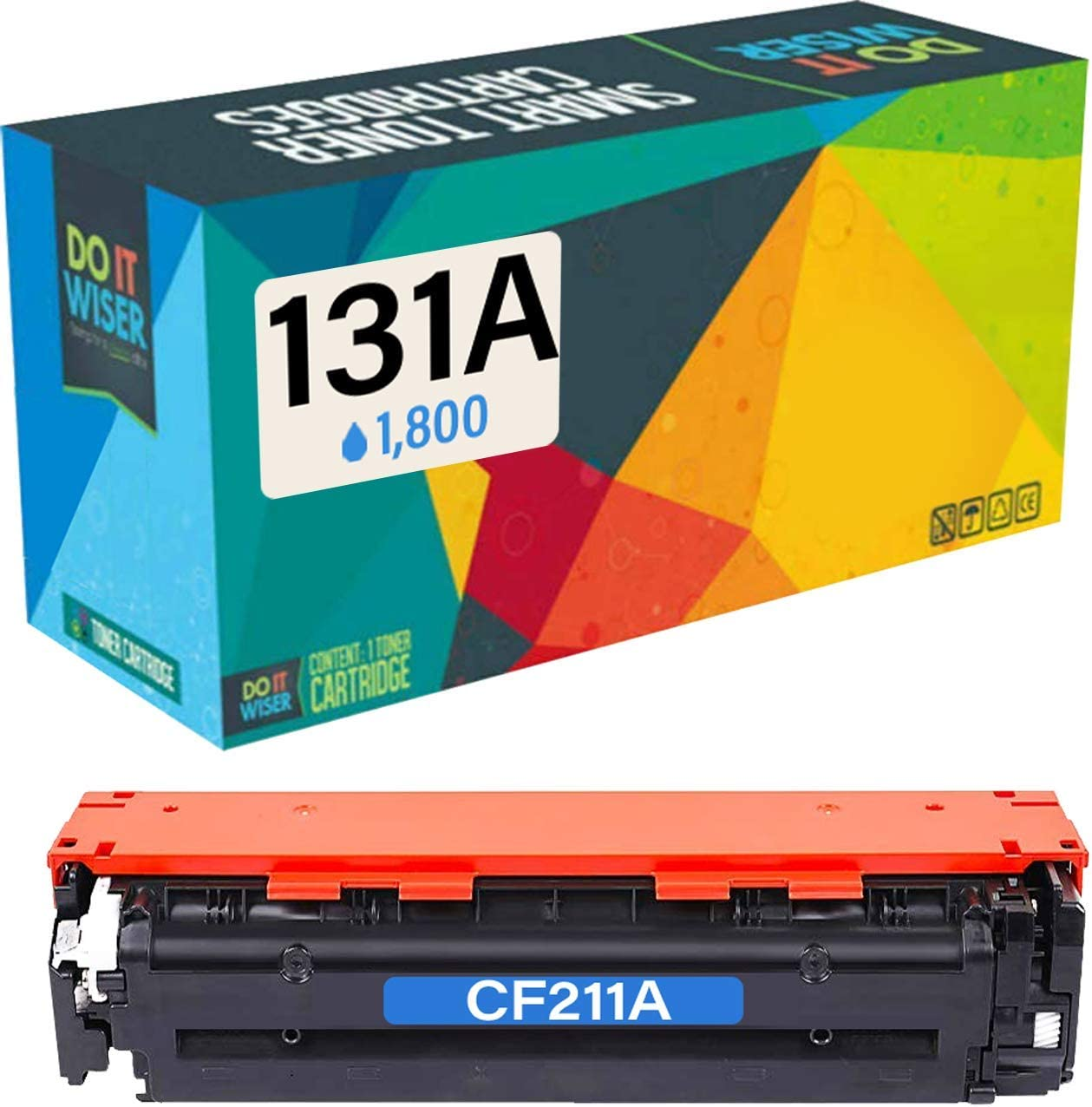 Do it Wiser Compatible Toner Cartridge Replacement for HP 131A CF211A CF211X HP Laserjet Pro 200 Color M251nw MFP M276nw M251n M276nw Canon MF8280Cw 7100CN 7110CW LBP7100C (Cyan)