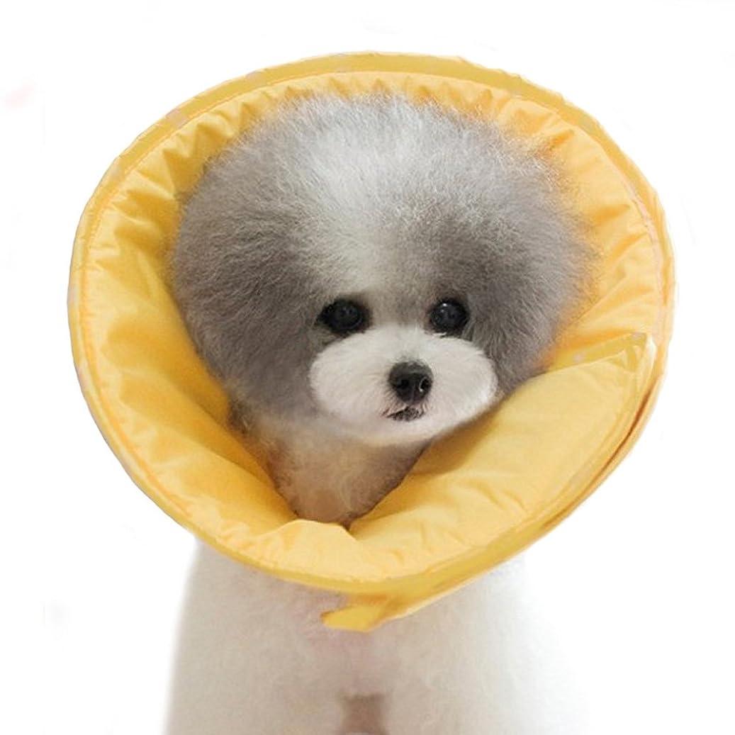 のため精神的に外出Bailuoni ペット用品 軽量 柔らかい素材 犬 猫 用 エリザベスカラー  (XL, ローズ色)