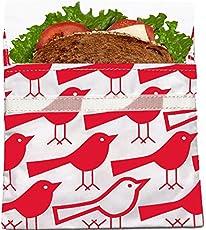 Lunchskins Bolsa reusable para sandwiches, pájaro rojo