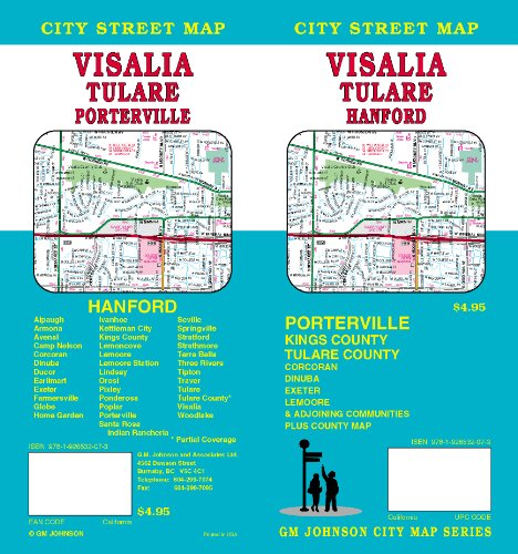 Visalia/Tulare/Hanford City Street Map