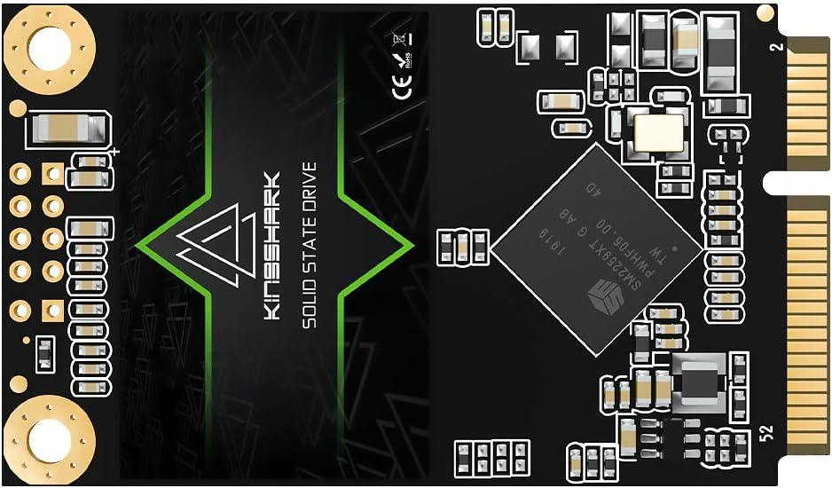 Kingshark mSATA 500GB Internal Solid State Drive High Performance Hard Drive for Desktop Laptop SATA III 6Gb/s Includes SSD (500GB, Msata)
