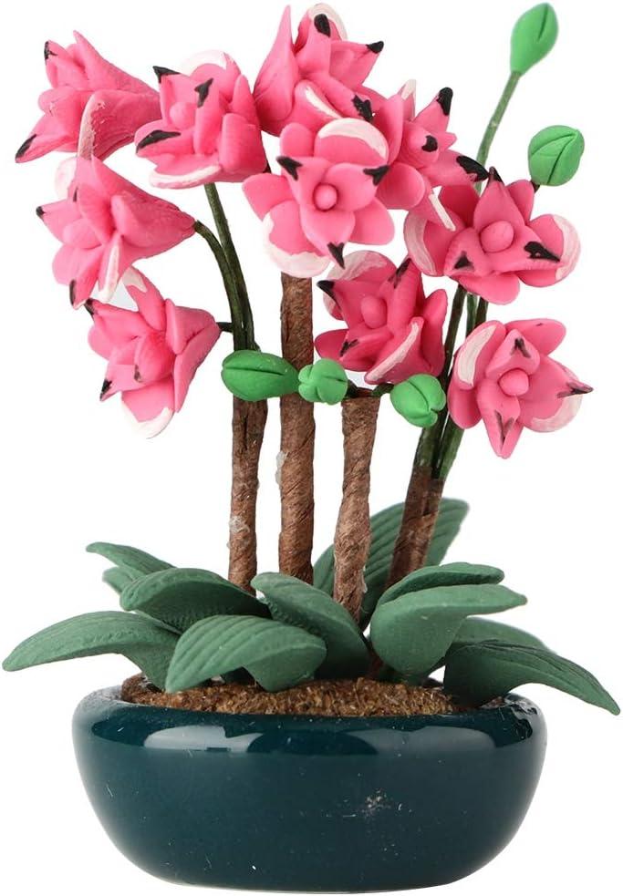1//12 Ceramic Flower Pot for Dolls House Garden Plant Room Decor Accessory #A