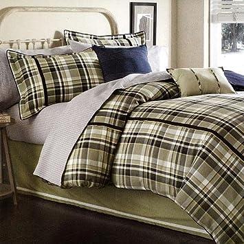 dockers sterling plaid comforter bed skirt and sham set
