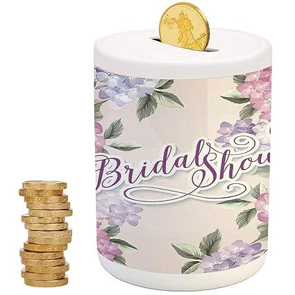 bridal shower decorationsceramic baby bankprinted ceramic coin bank money box for cash