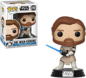 Funko Pop Star Wars: Clone Wars - OBI Wan Kenobi Collectible Figure, Multicolor