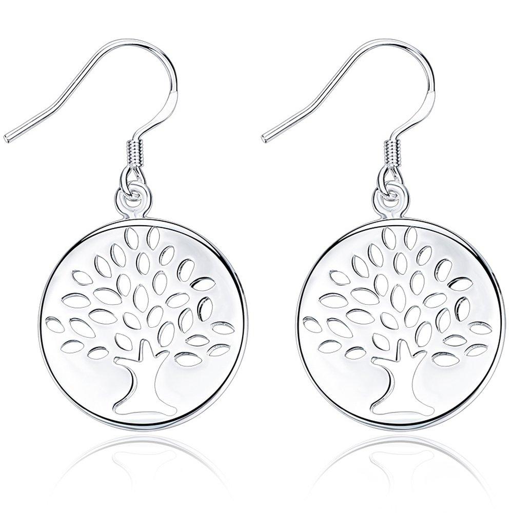 BEMI Classic 925 Sterling Silver Snowman Dangle Earring Christmas Gift Decoration Drop Earrings for Woman LeiZ INC CBE-093