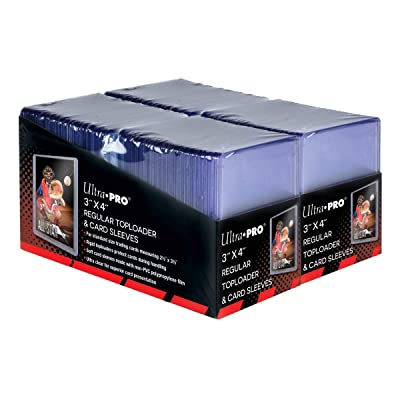 "Ultra Pro 3"" x 4"" Trading Card Toploader & Card Sleeve Bundle (200 ct.): Sports & Outdoors"
