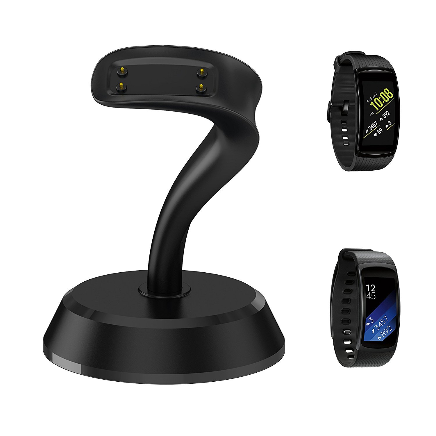 Fitian Gear Fit 2 Pro/Fit 2 Charger,Portable Gear Fit 2 Charger Stand Replacement Charging Docking Station Cradle for Samsung Galaxy Gear Fit2 Pro SM-R365 / Gear Fit 2 SM-R360 Smart Watch