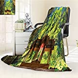 AmaPark Digital Printing Blanket Latent Pavilion in Between the Cliffs Discovery of Faith in the Art Summer Quilt Comforter