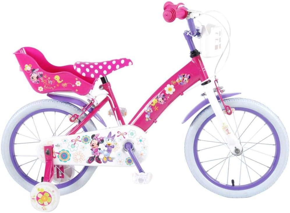 Disney Bicicleta Niña Minnie Mouse 16 Pulgadas Frenos al Manillar ...