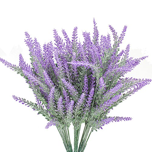 tificial Flowers Lavender Bouquet in Purple Artificial Plant Arrangement Lifelike Natural Fake Plant to Brighten Up Your Home Decor Party Wedding Garden Office Patio Decoration ()