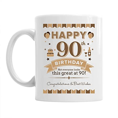 90th Birthday Gift For Men 1929 Keepsake 90 Year Old Coffee Mug Amazoncouk Kitchen Home