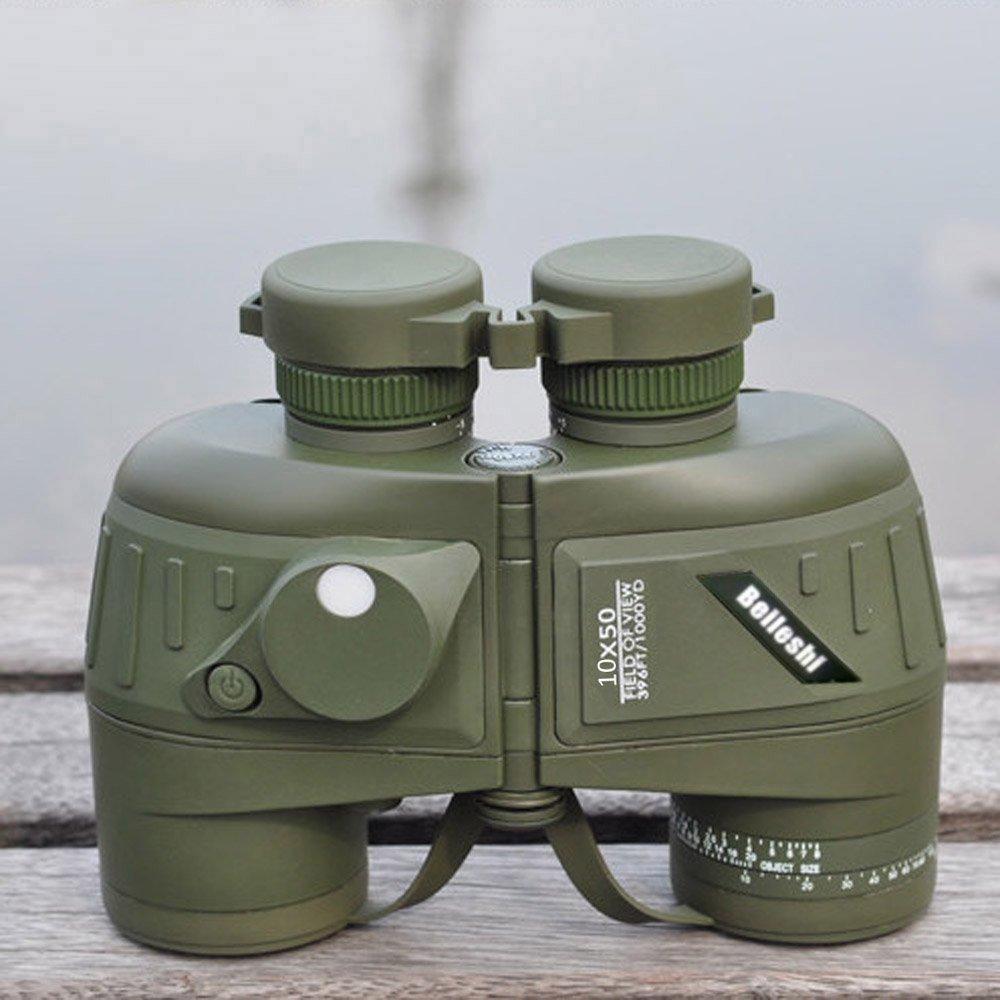 Docooler 10X50 396FT / 1000yds Binocolo Militare Impermeabile Antiurto con Compass per la Caccia Campeggio Viaggio