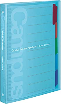 1 X Kokuyo Campus loose-leaf binder slide for one-touch light blue B5 binding d