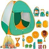 deAO Juego de Supervivencia Camping Infantil Conjunto de Imitación para Niños y Niñas Incluye Tienda de Campaña Pop Up…