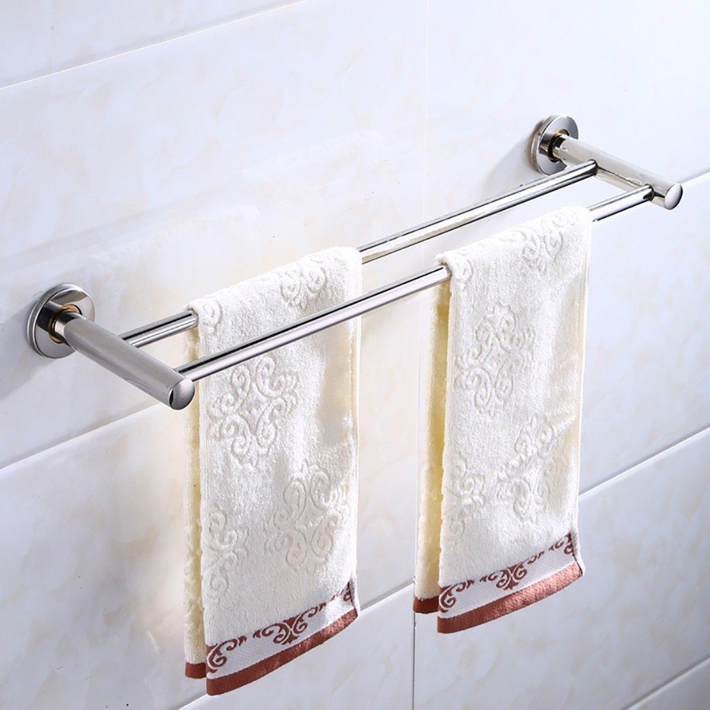 タオルバー/ダブルロッドステンレス鋼厚いバスルームタオルバー壁掛けのバスルームタオル棚、 (サイズ さいず : 40 cm 40 cm) B07DHFB4BW 40 cm 40 cm 40 cm 40 cm