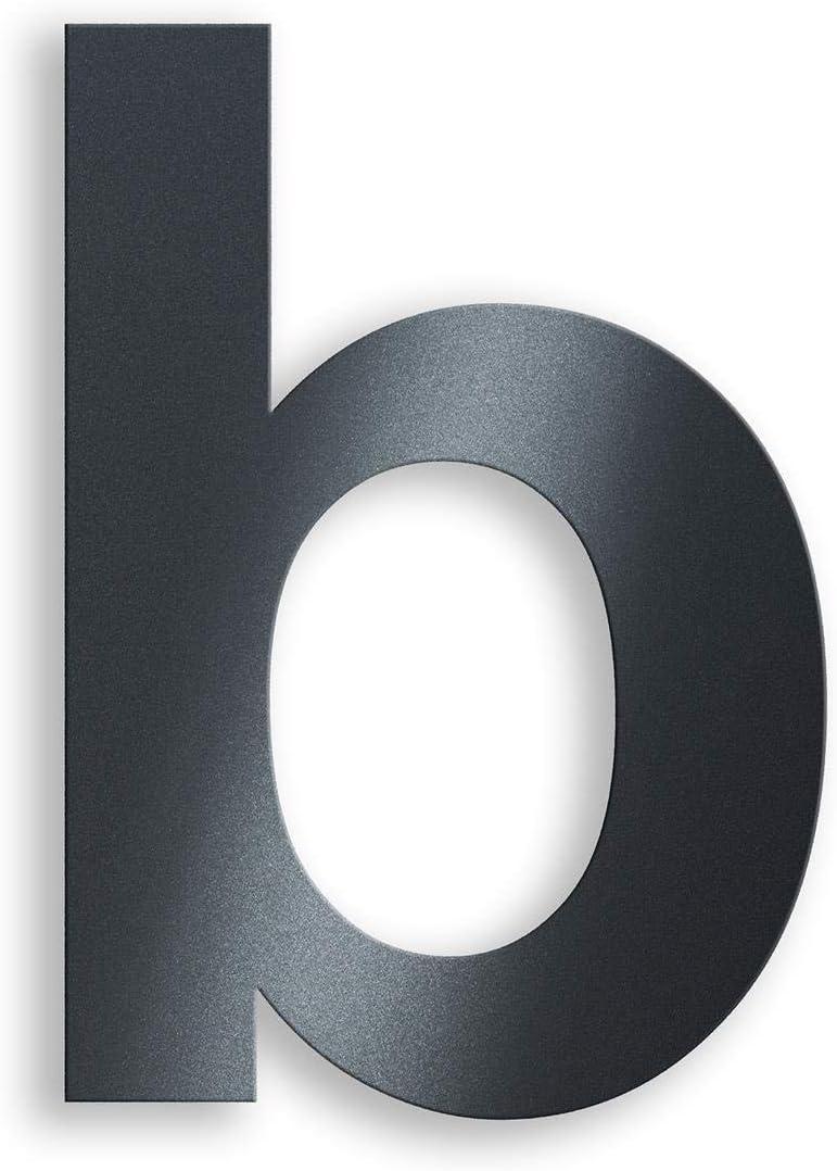 N/úmero de casa de acero inoxidable antracita RAL7016 20 cm de alto