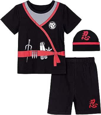 COSLAND Baby Boys' Halloween Ninja Costume with Hat
