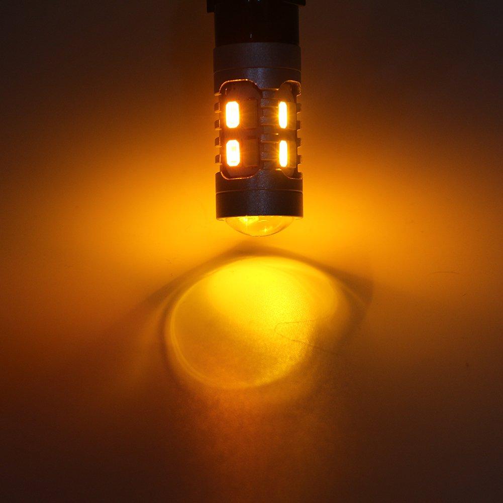 Grandview 1157 BAY15D 5730 20 SMD Amber//White Switchback Turn Signal LED Light Bulbs 3.8W 12V LED Super Bright 600 Lumens 6000-6500K Brake Light Lamp Pack of 4