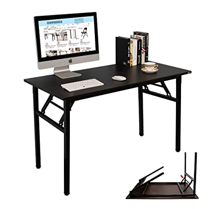 Amazing Need Computer Desk 47Inches Office Desk Folding Table Computer Table Workstation No Install Needed Black Brown Ac5Cb 120 Ca Download Free Architecture Designs Ferenbritishbridgeorg