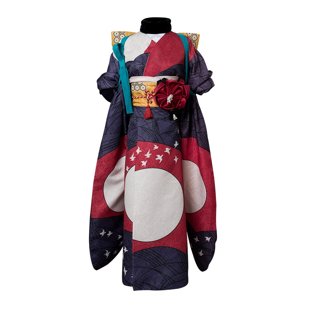 Fate//Grand Order FGO Katsushika Hokusai Foreigner Costume Cosplay Kimono Dress