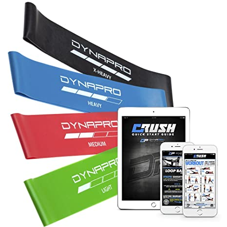 Ausdauertraining Fitness & Jogging DYNAPRO Resistance Bands Mini Precision Loop Exercise Bands with E-Quickstar...